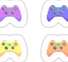 Pixel Xbox Controllers - Pastel Set Sticker