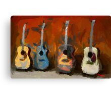 Four Guitars Canvas Print