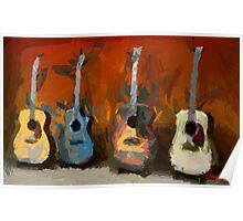 Four Guitars Poster