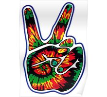 Tie-Dye Peace Sign Poster