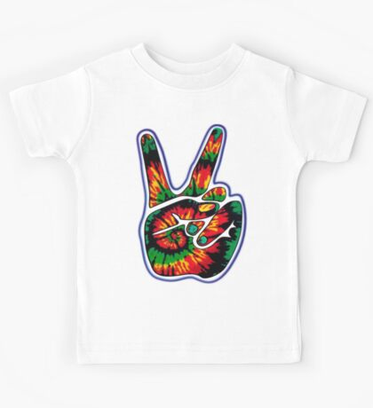 Tie-Dye Peace Sign Kids Tee