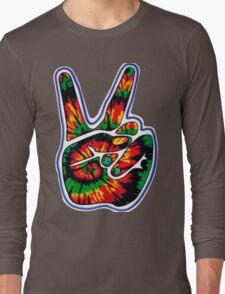 Tie-Dye Peace Sign Long Sleeve T-Shirt