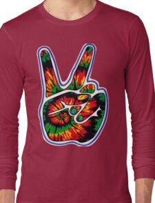 Tie-Dye Peace Sign Long Sleeve T-Shirt
