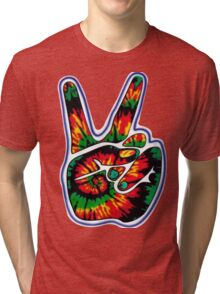 Tie-Dye Peace Sign Tri-blend T-Shirt