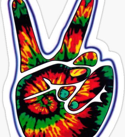 Tie-Dye Peace Sign Sticker