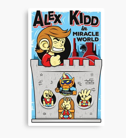Alex Kidd in Miracle World Canvas Print