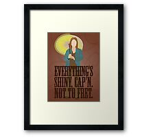 Kaylee - Everything's shiney Framed Print
