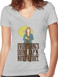 Kaylee - Everything's shiney Women's Fitted V-Neck T-Shirt