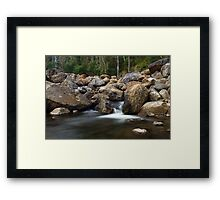 Boulders on the River Framed Print