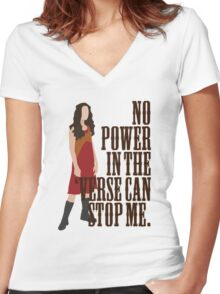 River Tam - No Power In The 'Verse Can Stop Me Women's Fitted V-Neck T-Shirt