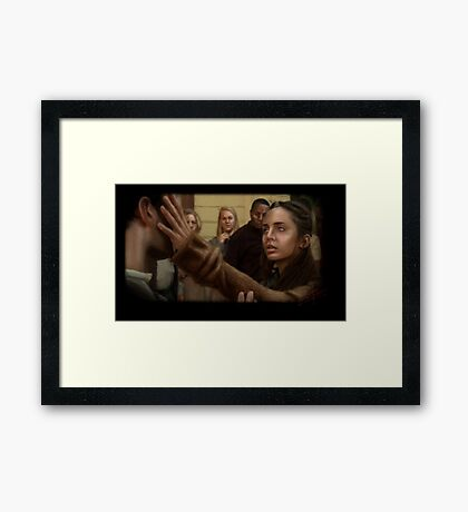 Echo blind Framed Print