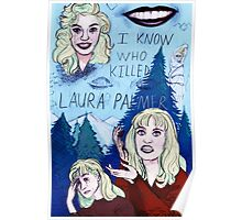I KNOW WHO KILLED LAURA PALMER A Twin Peaks Tribute Piece Poster