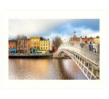 Ha'penny Bridge - Dublin Ireland Art Print