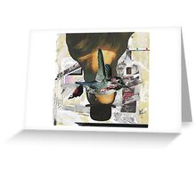 Woman in a Bowler Hat Greeting Card