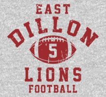 East Dillon Lions Football - 5 Gray T-Shirt