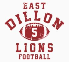 East Dillon Lions Football - 5 Gray Kids Clothes