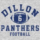 Dillon Panthers Football - 6 Gray by Stucko23
