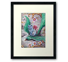 Tea cup kittens adventure Framed Print
