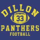 Dillon Panthers Football - 33 Blue by Stucko23