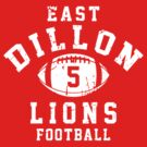 East Dillon Lions Football - 5 Red by Stucko23