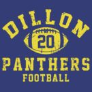 Dillon Panthers Football - 20 Blue by Stucko23