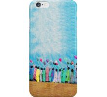 People with Balloons iPhone Case/Skin