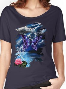 night of the purple butterfly Women's Relaxed Fit T-Shirt