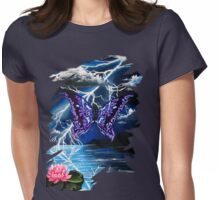 night of the purple butterfly Womens Fitted T-Shirt