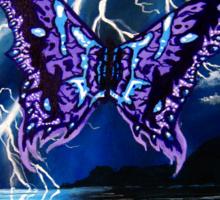 night of the purple butterfly Sticker