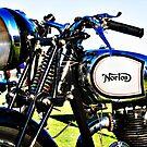 1935 Norton model 50 motorcycle handlebar by htrdesigns