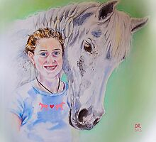 Young girl with her horse by didielicious