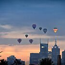 Balloons Over Melbourne City by Handy Andy Pandy
