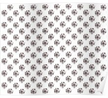 Black and White Roses Pattern Poster