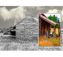 Old cottage diptych 2 Photographic Print