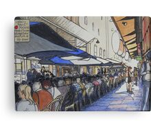 De Graves St. laneway lunch - Melbourne Canvas Print