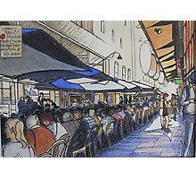De Graves St. laneway lunch - Melbourne Photographic Print
