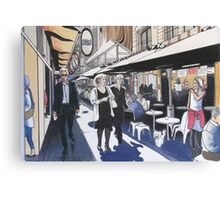 Melbourne Laneway Business Lunch Canvas Print