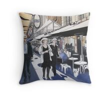 Melbourne Laneway Business Lunch Throw Pillow