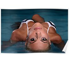 Lovely Wet Woman in Water Poster