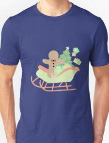 Gingerbread man in Sleigh #1 T-Shirt