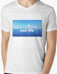 sad life Mens V-Neck T-Shirt