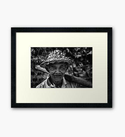 Old Balinese Man Framed Print