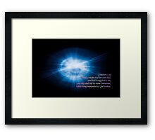 And they shall call his name Emmanual Framed Print