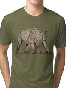 Rhino Ink and Brush Tri-blend T-Shirt