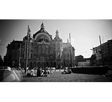 Summer at Antwerp Station Photographic Print