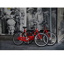 Amsterdam, High Power Art and Bicycles Photographic Print