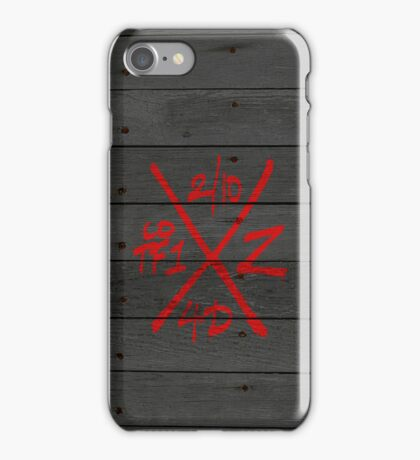 Dead Walking Zombie X-Code (RED) iPhone Case/Skin