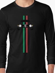 Simplistic Classic Italian coupe with verticle Italian stripes Long Sleeve T-Shirt