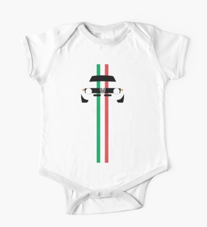 Simplistic Classic Italian coupe with verticle Italian stripes One Piece - Short Sleeve