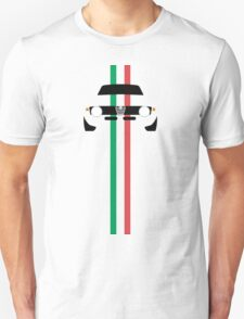 Simplistic Giulia Sprint GTA with verticle Italian stripes T-Shirt